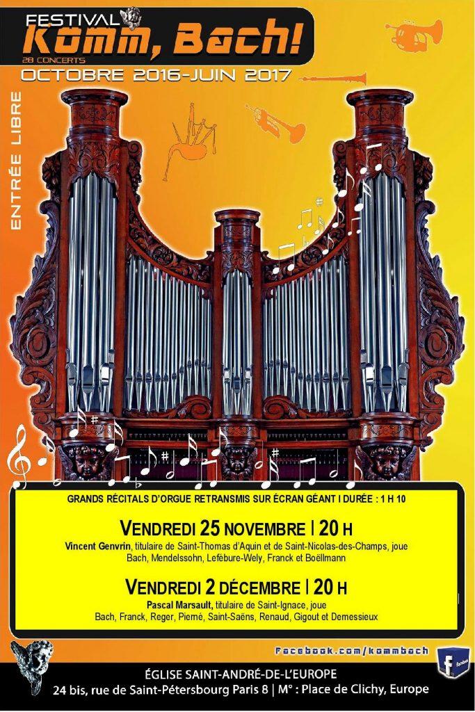 Affiche concerts Vincent Genvrin et Pascal Marsault