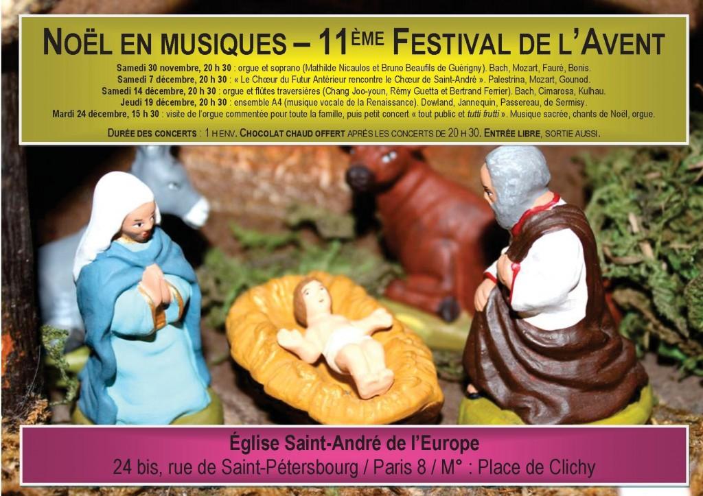 Affiche concerts de Noël 2013