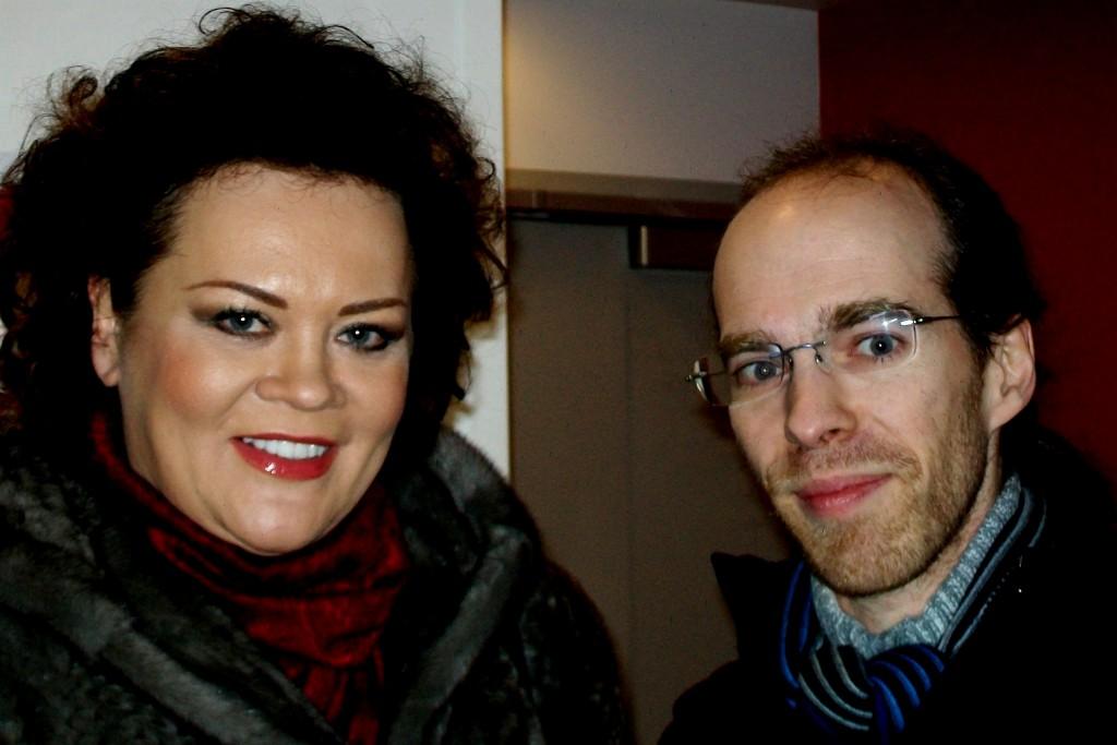 Violeta Urmana et Bertrand Ferrier (Salle Pleyel, 6 janvier 2013). Photo : Josée Novicz