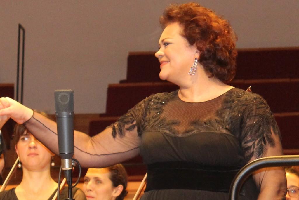 Violeta Urmana à la Salle Pleyel, le 4 janvier 2012. Photo d'après Josée Novicz.