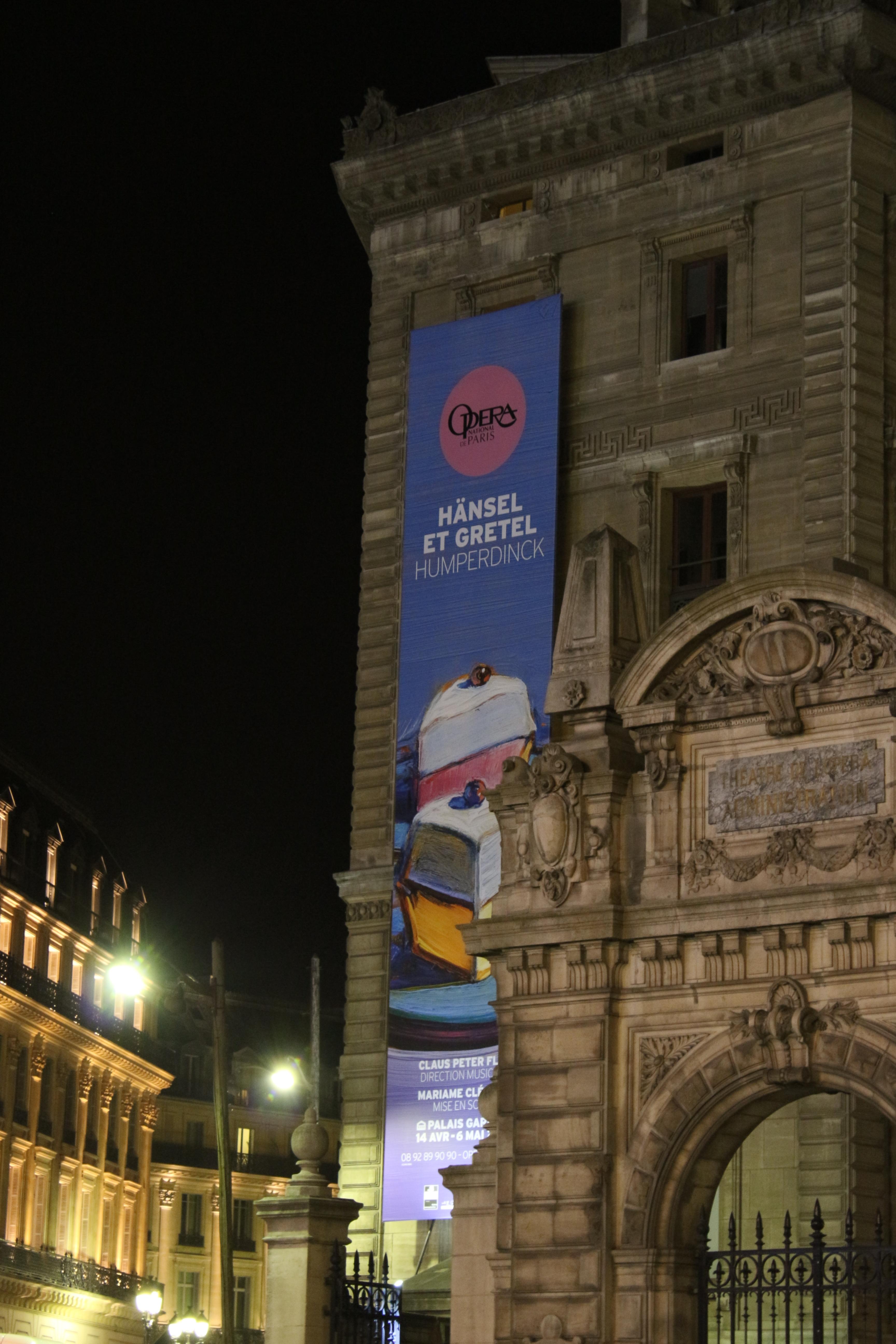 Les fesses de l'Opéra Garnier, le 14 avril 2013 (photo : Josée Novicz)