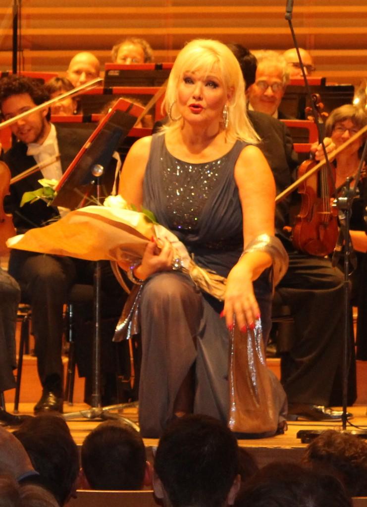 Karita Mattila à Pleyel le 17 septembre 2013. (Photo : Josée Novicz)