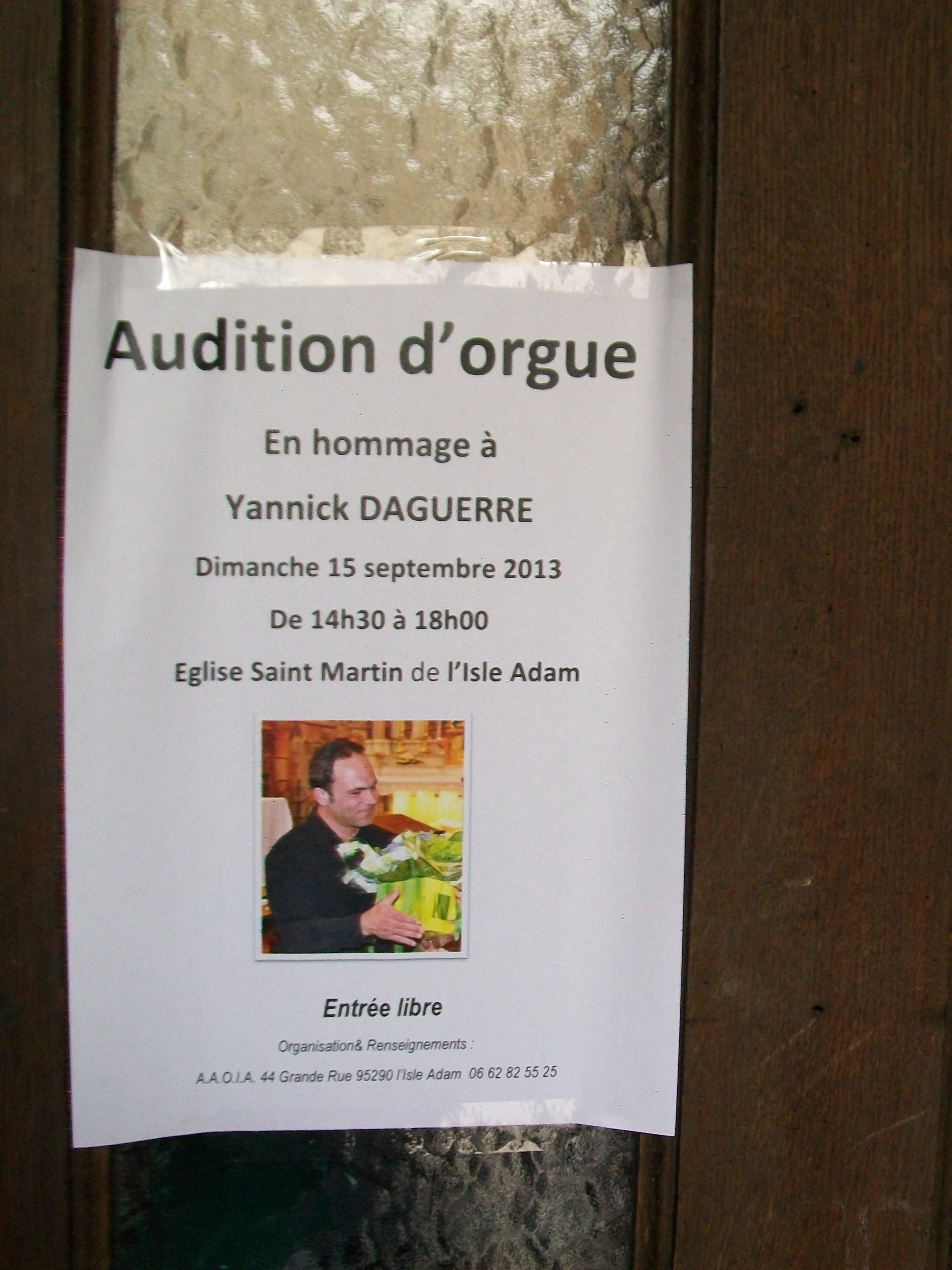 Audition Yannick 2013