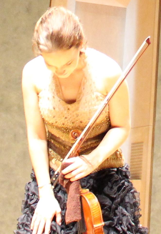 Hilary Hahn (Cité de la musique, 30 octobre 2013). Photo : Josée Novicz.