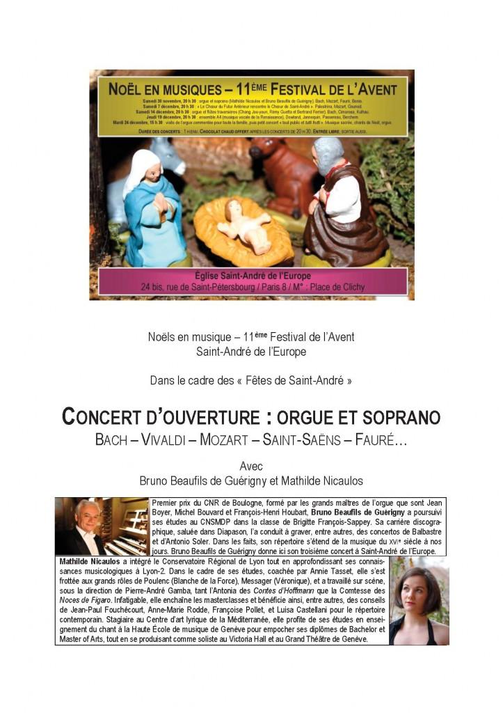 Programme concert 30/11/13