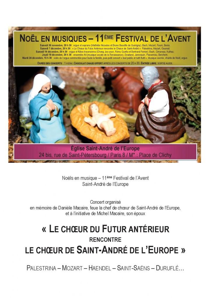 Concert organisé par Bertrand Ferrier, le 7 décembre à 20 h 30 (Paris 8).