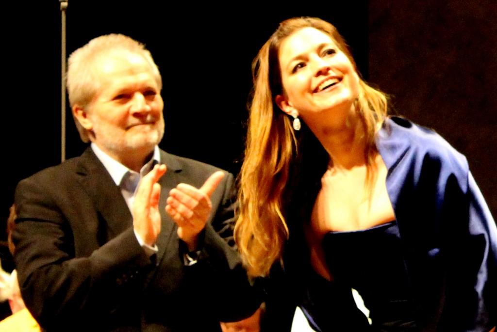 Peter Eötvös et Julia Bauer. Photo : Josée Novicz.