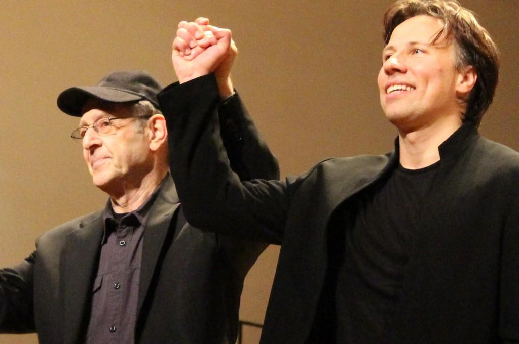 Steve Reich et Kristjan Järvi. Photo : Josée Novicz.
