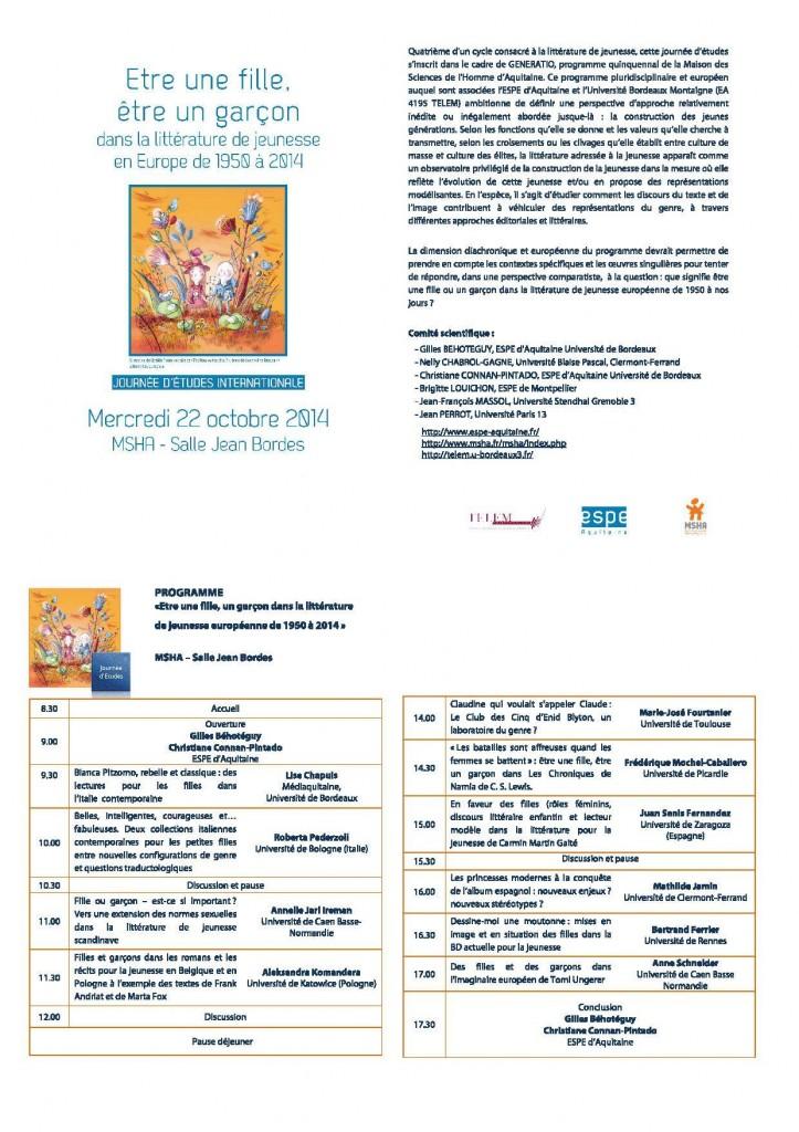 Programme Bordeaux