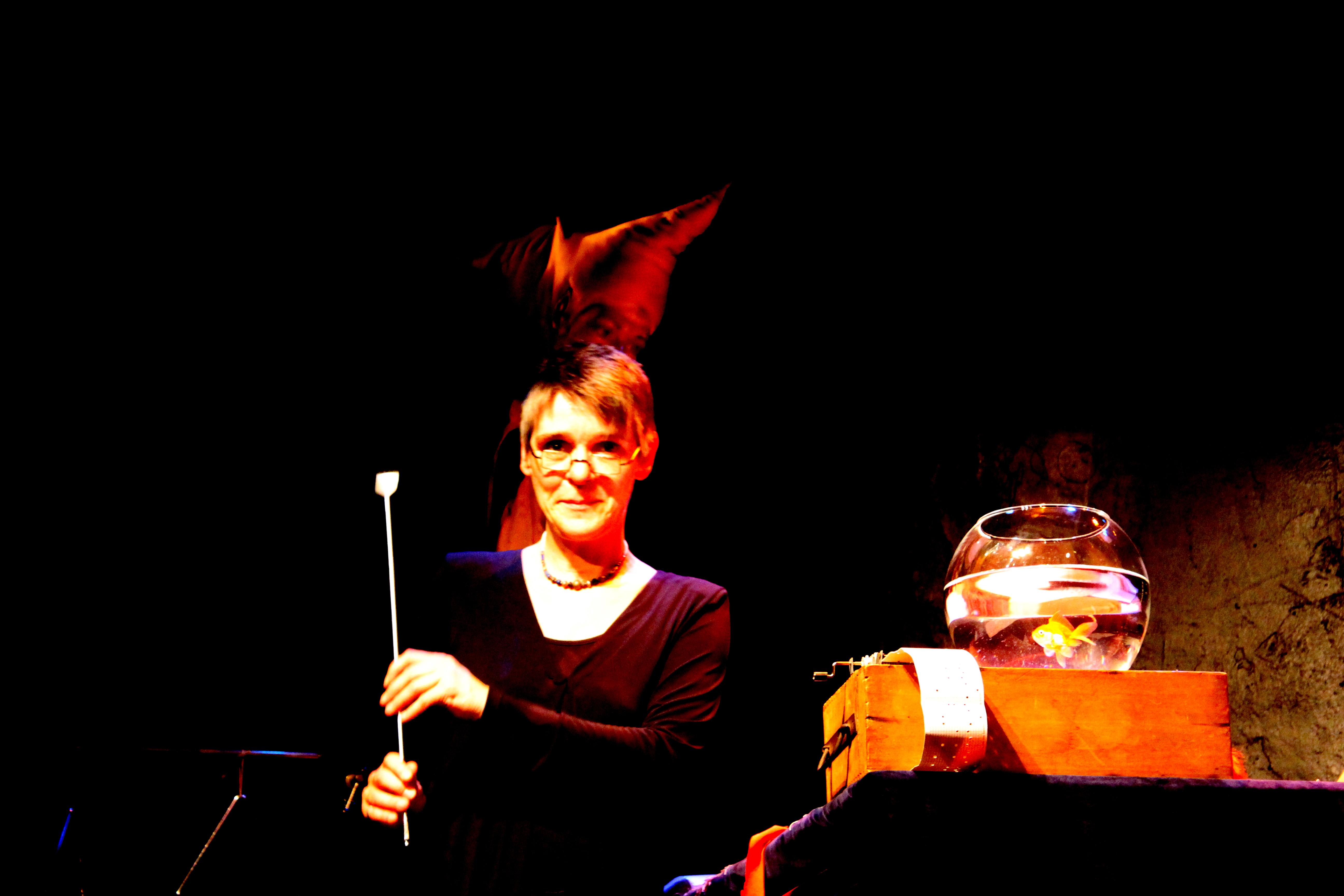 Nathalie Fortin sur scène, le 5 septembre 2015. Photo : Josée Novicz.