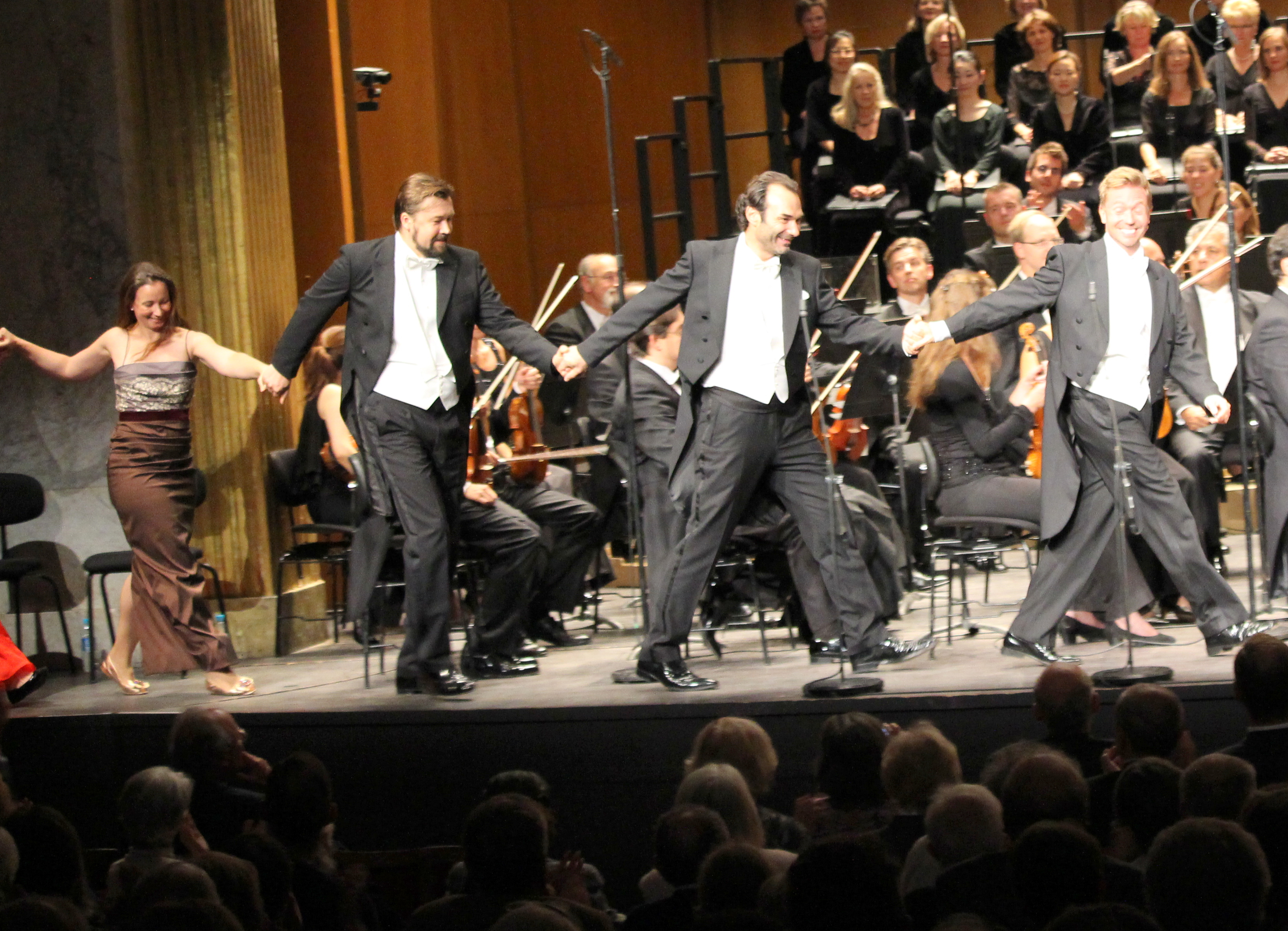 De gauche à droite : Christina Landshamer, Dimitry Ivashchenko, Nikolai Schukoff et Miljenko Turk. Photo : Bertrand Ferrier.