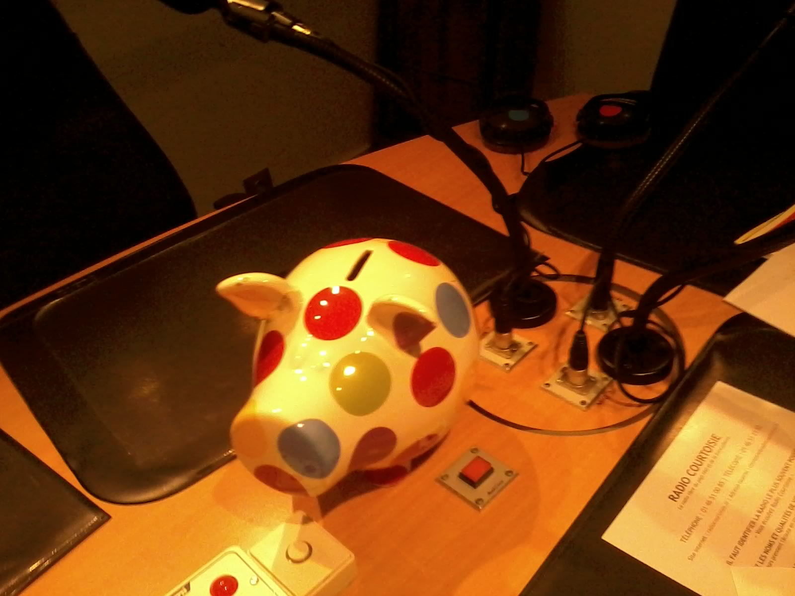 La vedette de Radio-Courtoisie : le cochon anti-franglais