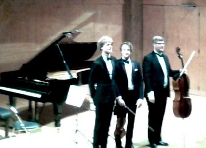 Le trio Vitruvi. De gauche à droite, Alexander McKenzie, Niklas Walentin et Jacob la Cour.