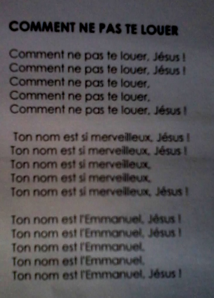 Paroles liturgiques