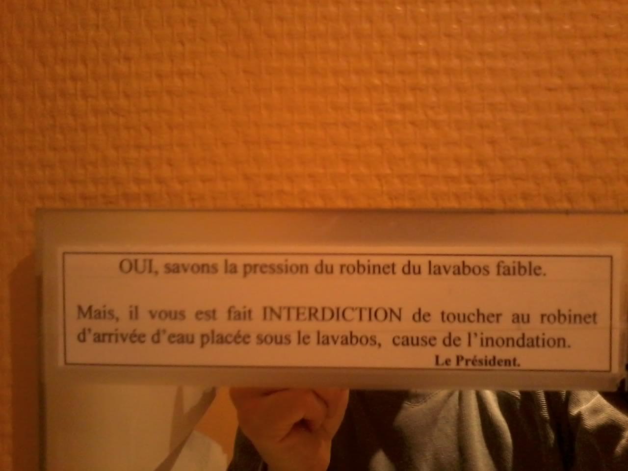 Entre le français et le c'est franc