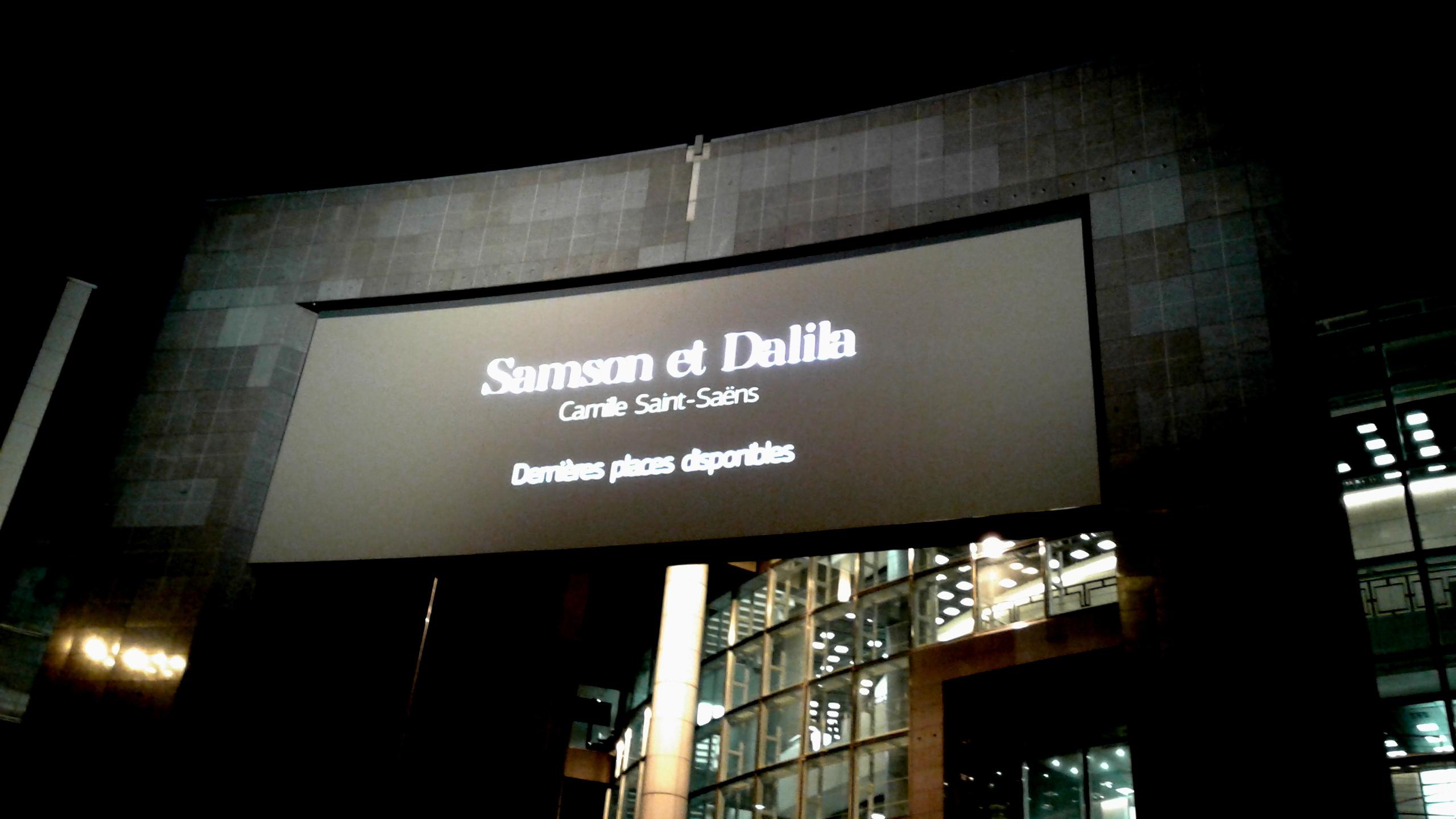 Samson et Dalila : l'accueil