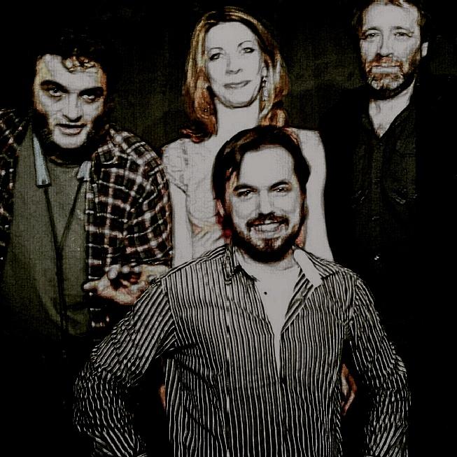 Barthélémy Saurel, Terrebrune, Éric Prados, chanteurs, et le rrreprésentant du Soum-Soum (mo, je suis de l'autre côté de la photo, certains disent que c'est pour ça qu'elle est moche, mais bon)