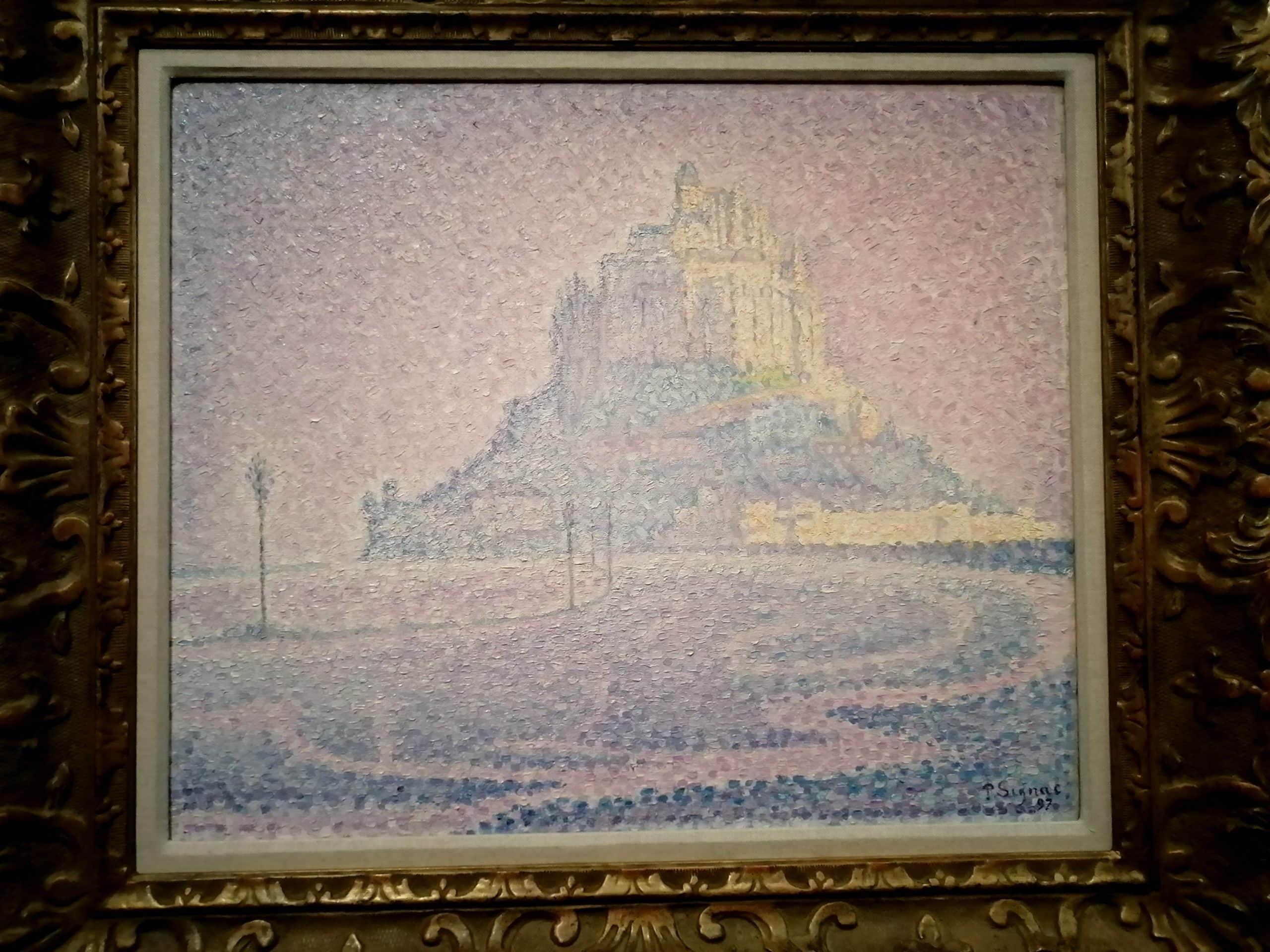 """Paul Signac, """"Mont Saint-Michel. Brume et soleil"""""""